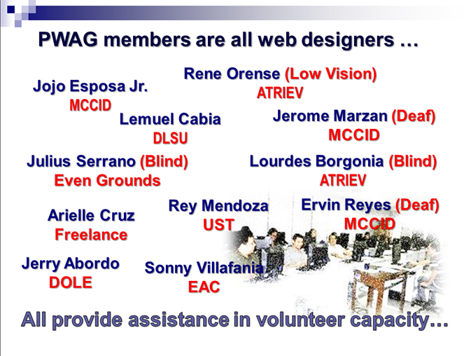 PWAG List of Validator-Members