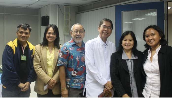 From Left: PWAG Esposa, Comelec's Eden Bolo, NCDA Ravelo, Commissioner Sarmiento, NCDA De Jesus and IFES Butoy